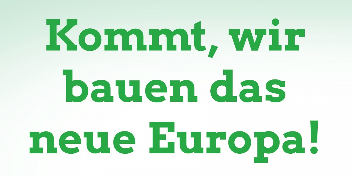 Europawahlprogramm BÜNDNIS 90/DIE GRÜNEN